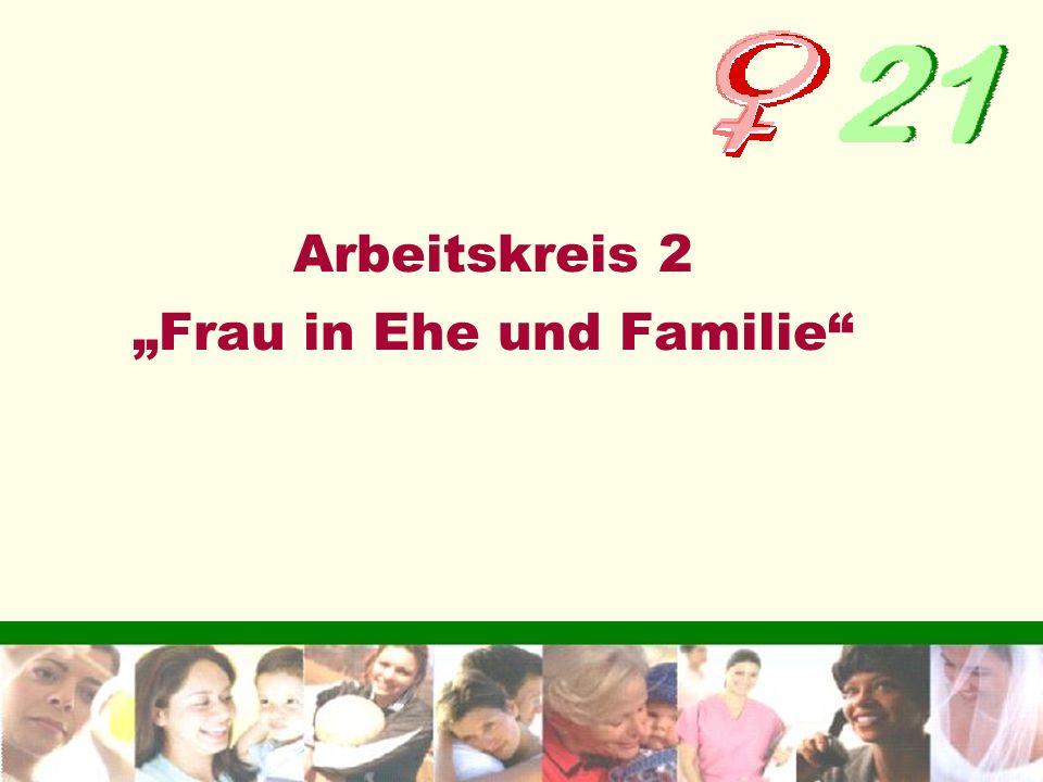 """Arbeitskreis 2 """"Frau in Ehe und Familie"""