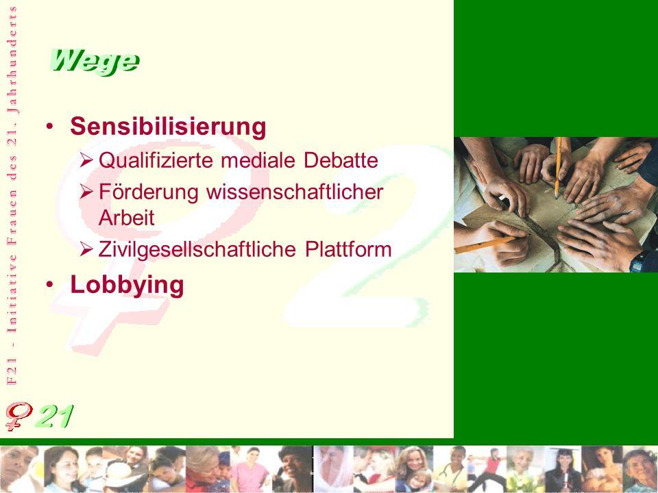Wege Sensibilisierung Lobbying Qualifizierte mediale Debatte