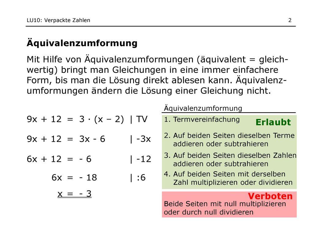 lösung von gleichungen