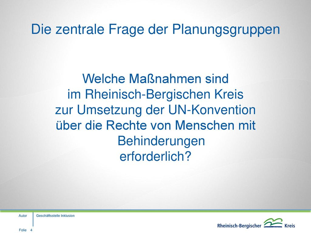 Sachstand und Ausblick zur Maßnahmeplanung Inklusion im Rheinisch ...
