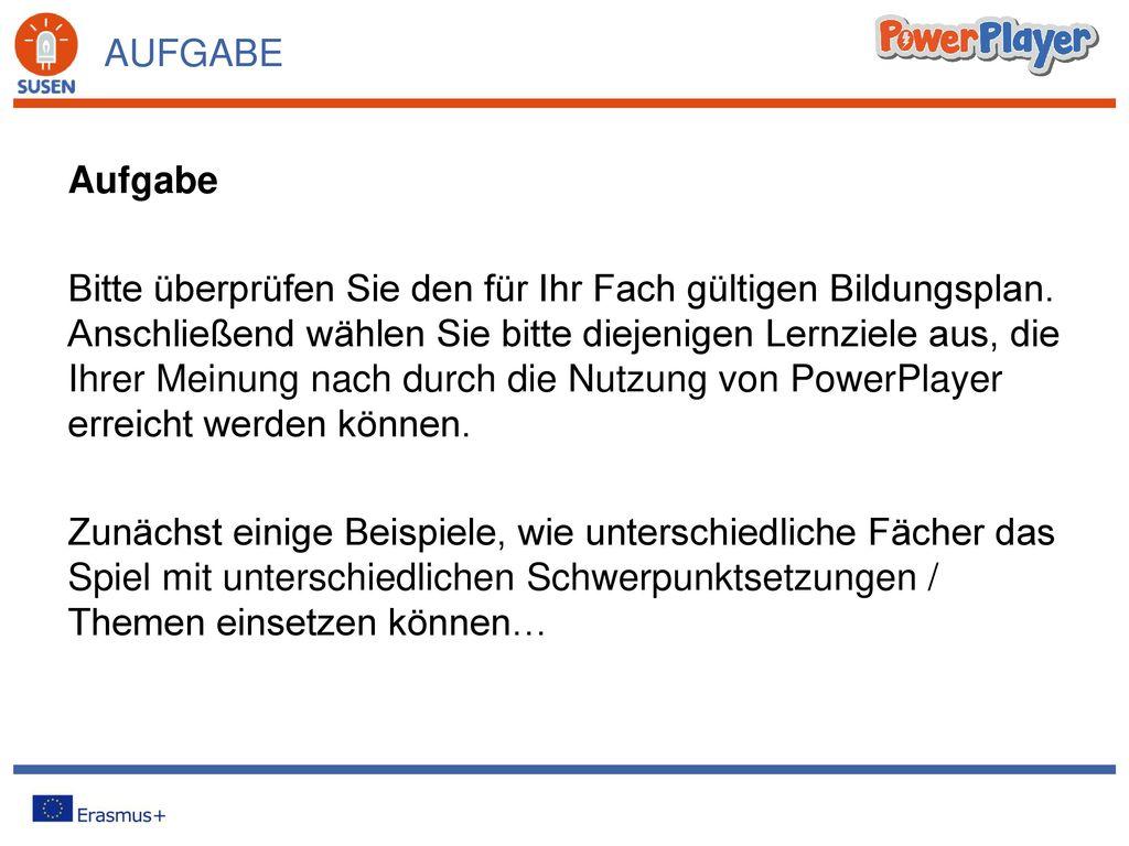 WORKSHOPS FÜR LEHRERINNEN UND LEHRER Die Didaktik hinter PowerPlayer ...