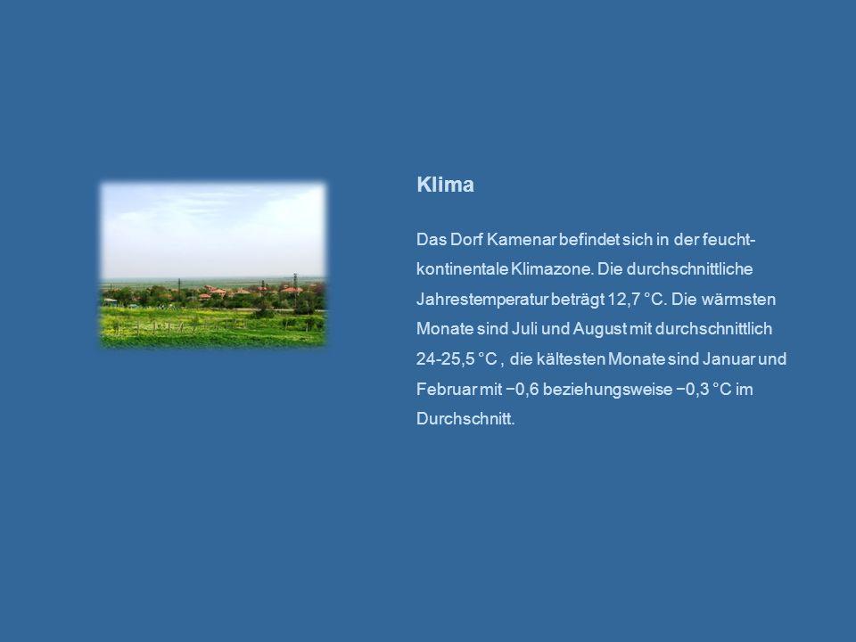 Klima Das Dorf Kamenar befindet sich in der feucht-