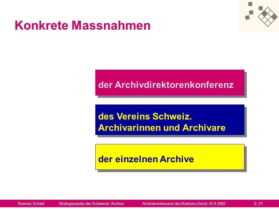 Konkrete Massnahmen der Archivdirektorenkonferenz