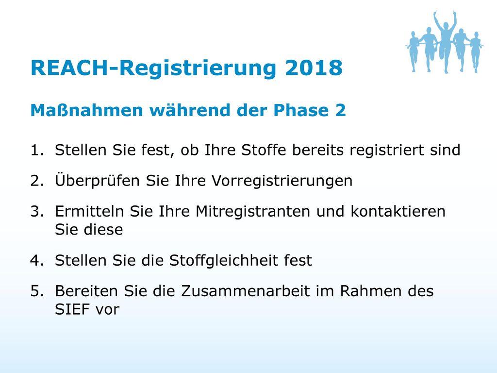REACH 2018 Ermitteln Sie Ihre Mitregistranten und bereiten Sie sich ...