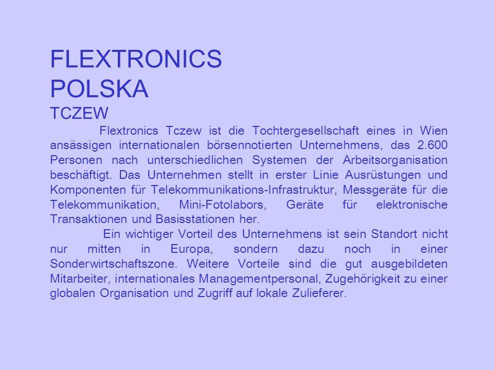 FLEXTRONICS POLSKA TCZEW