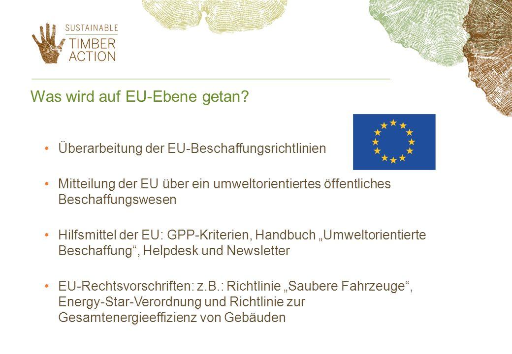 Was wird auf EU-Ebene getan