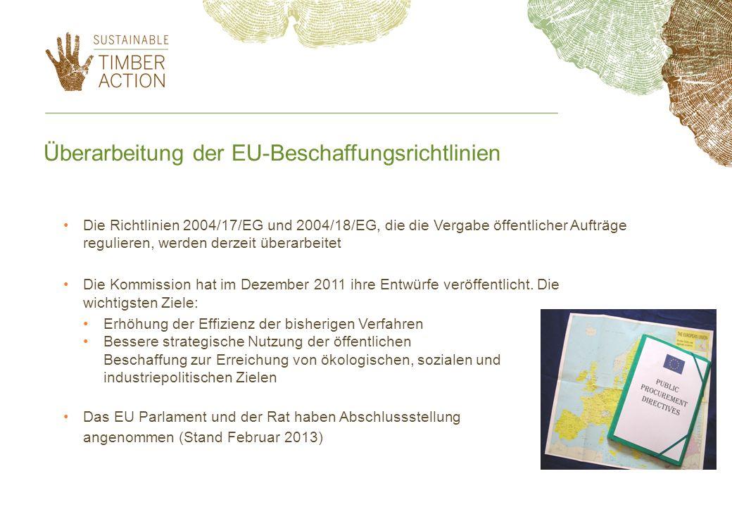 Überarbeitung der EU-Beschaffungsrichtlinien