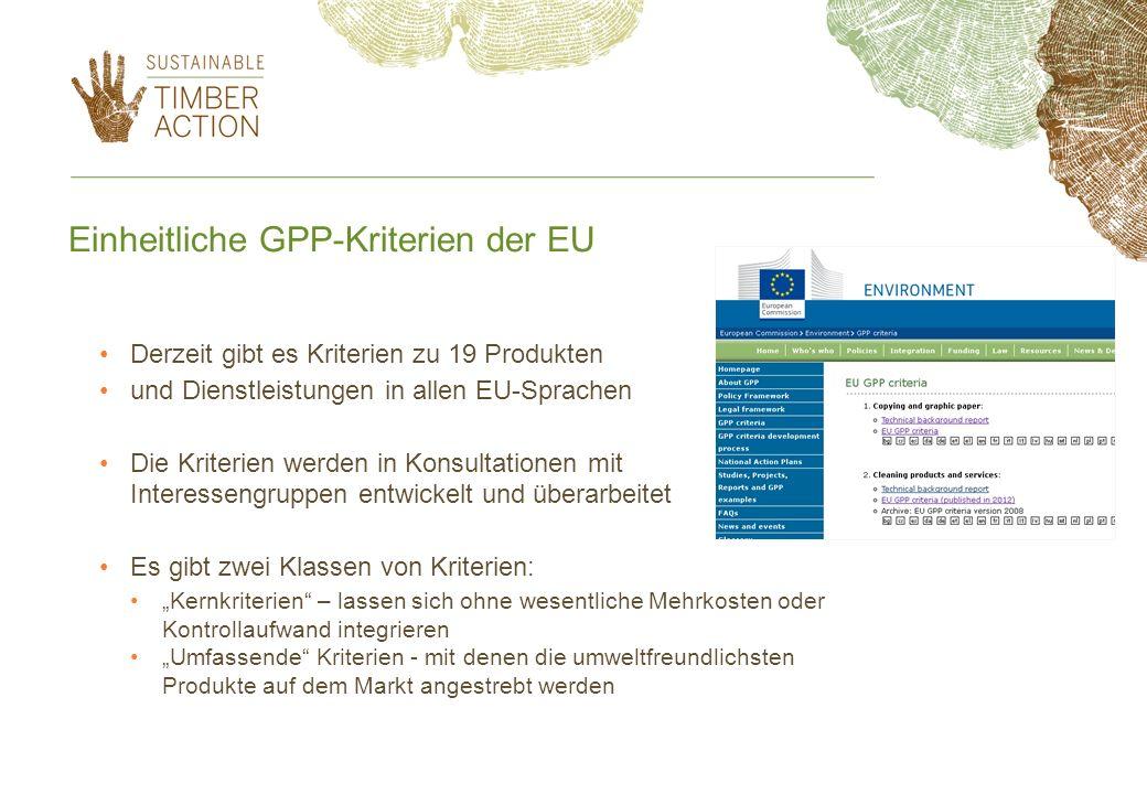Einheitliche GPP-Kriterien der EU
