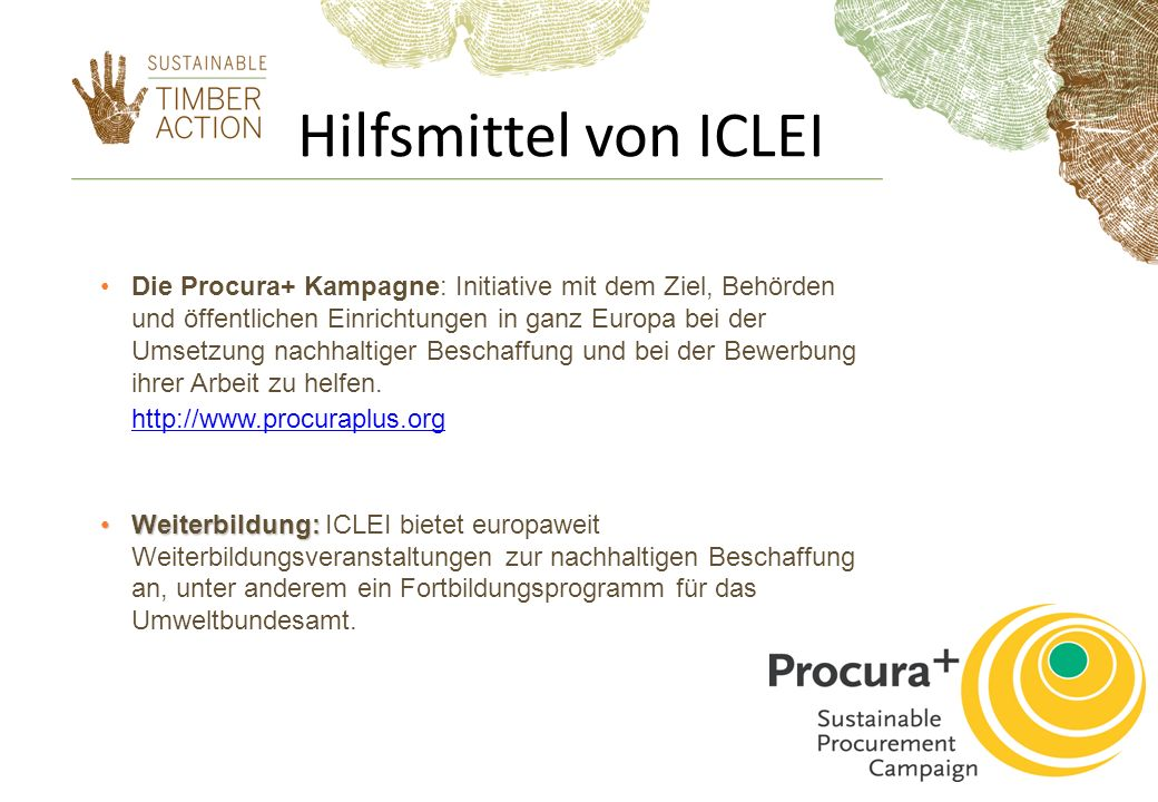 Hilfsmittel von ICLEI