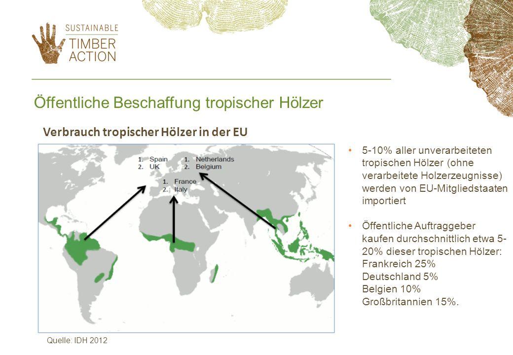 Öffentliche Beschaffung tropischer Hölzer