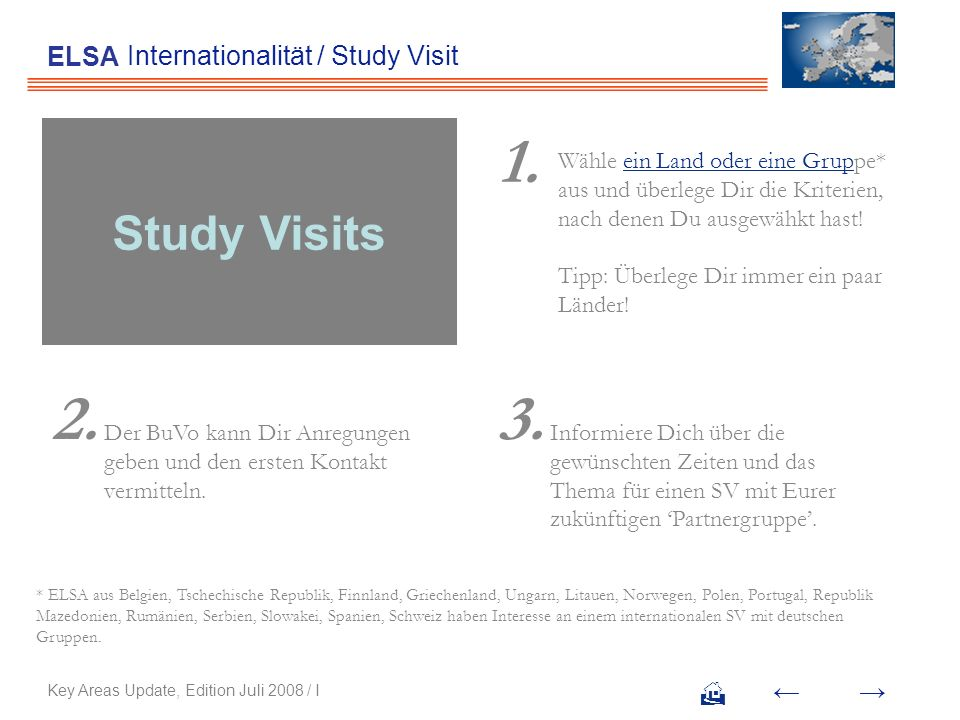 Internationalität / Study Visit