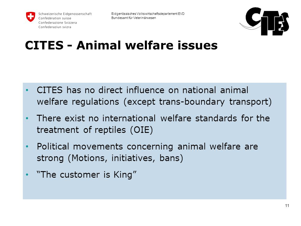 CITES - Animal welfare issues