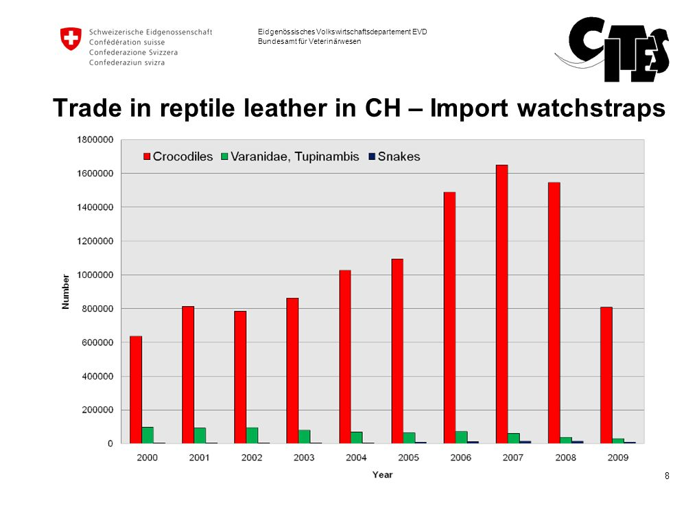 Trade in reptile leather in CH – Import watchstraps