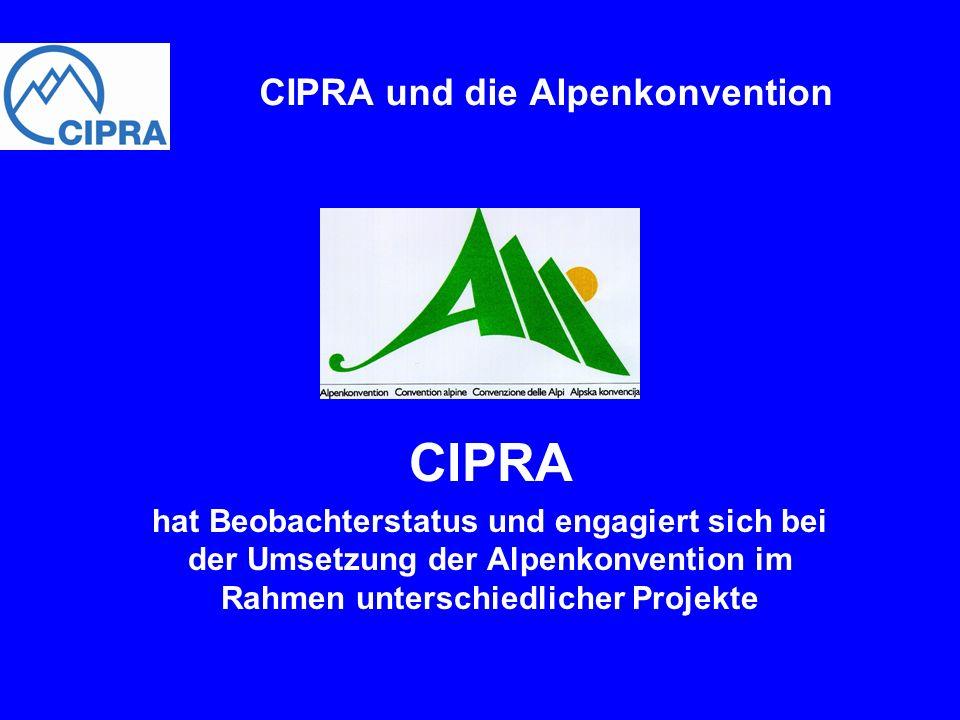 CIPRA und die Alpenkonvention