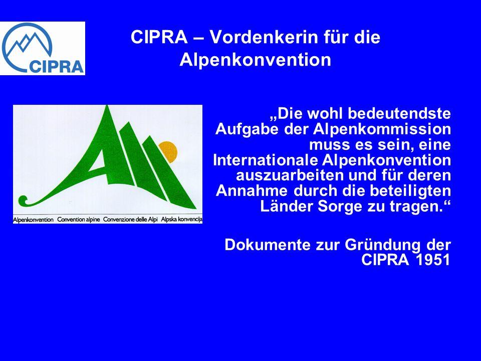 CIPRA – Vordenkerin für die Alpenkonvention