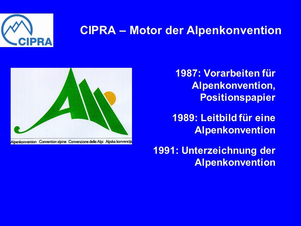 CIPRA – Motor der Alpenkonvention