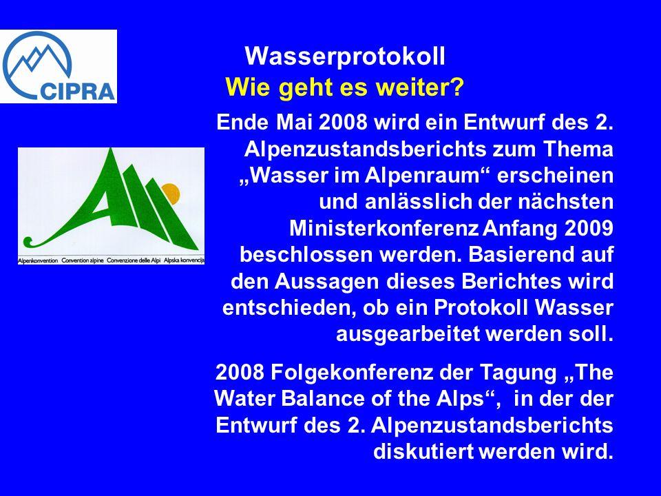 Wasserprotokoll Wie geht es weiter