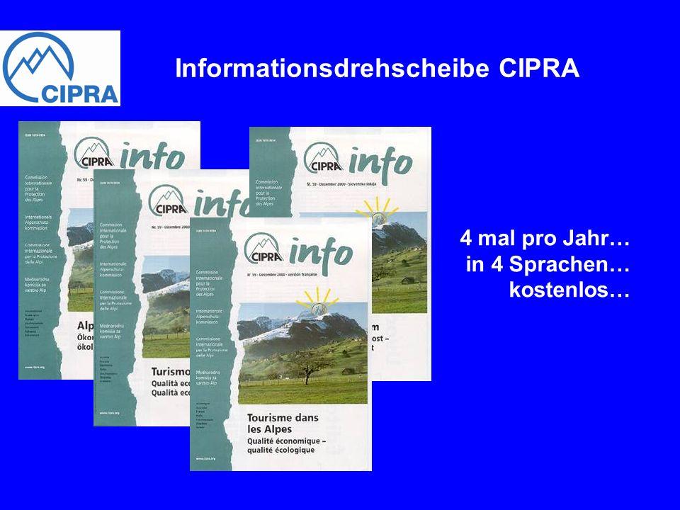 Informationsdrehscheibe CIPRA