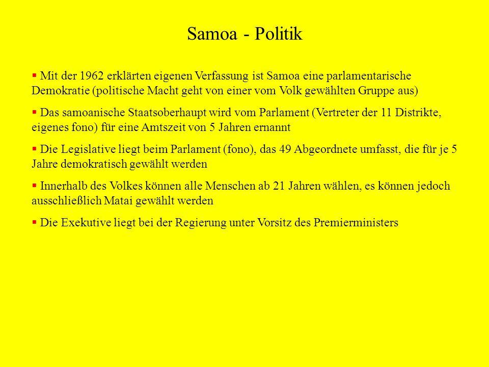 Samoa - Politik