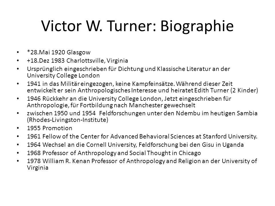 Victor W. Turner: Biographie