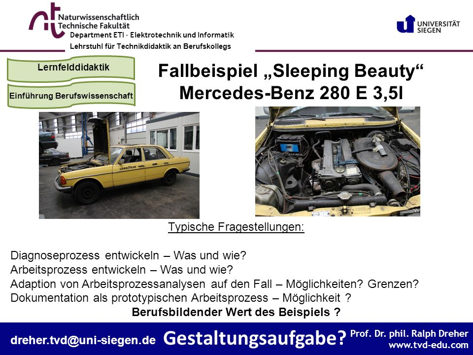 """Fallbeispiel """"Sleeping Beauty Berufsbildender Wert des Beispiels"""