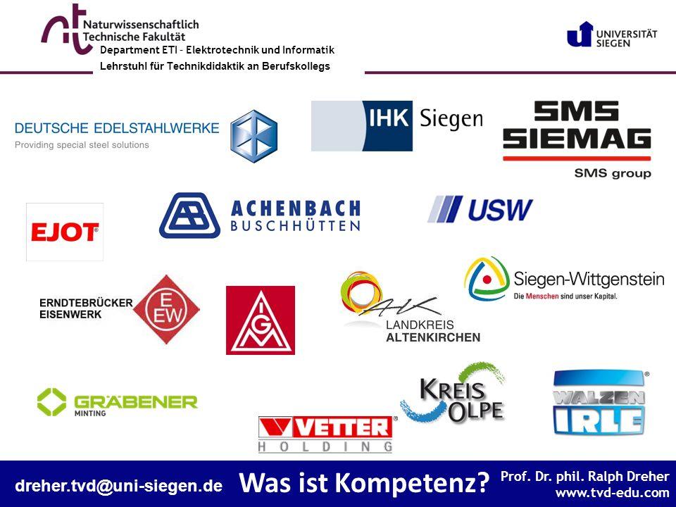 Was ist Kompetenz dreher.tvd@uni-siegen.de