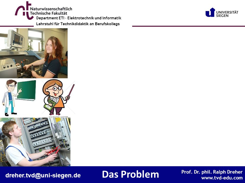 Das Problem dreher.tvd@uni-siegen.de