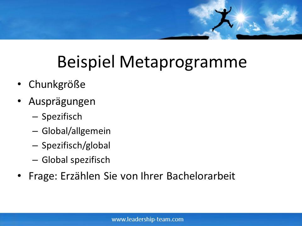 Beispiel Metaprogramme