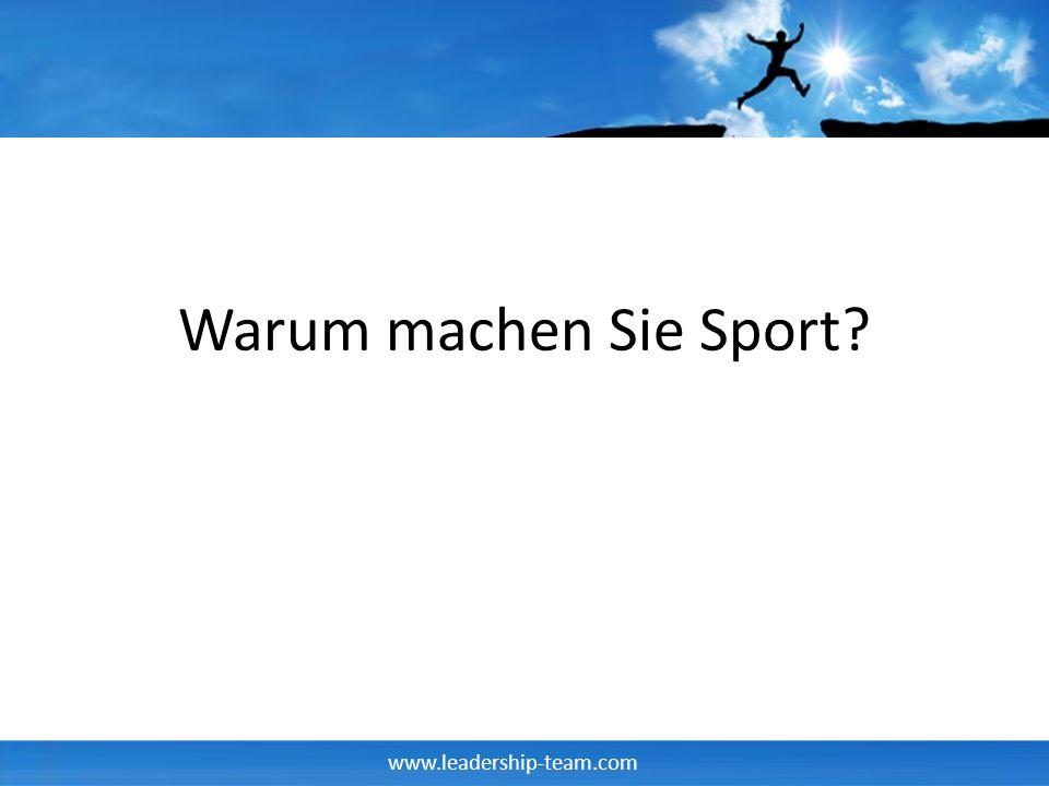 Warum machen Sie Sport