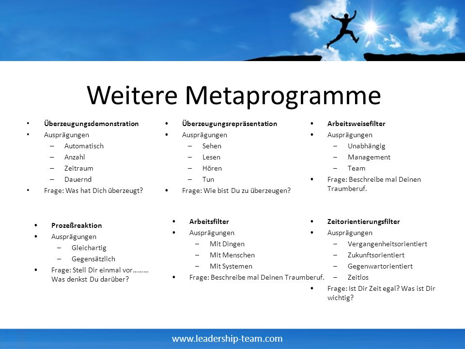 Weitere Metaprogramme