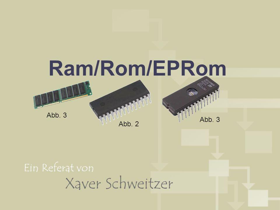 Ram/Rom/EPRom Abb. 3 Abb. 3 Abb. 2 Ein Referat von Xaver Schweitzer