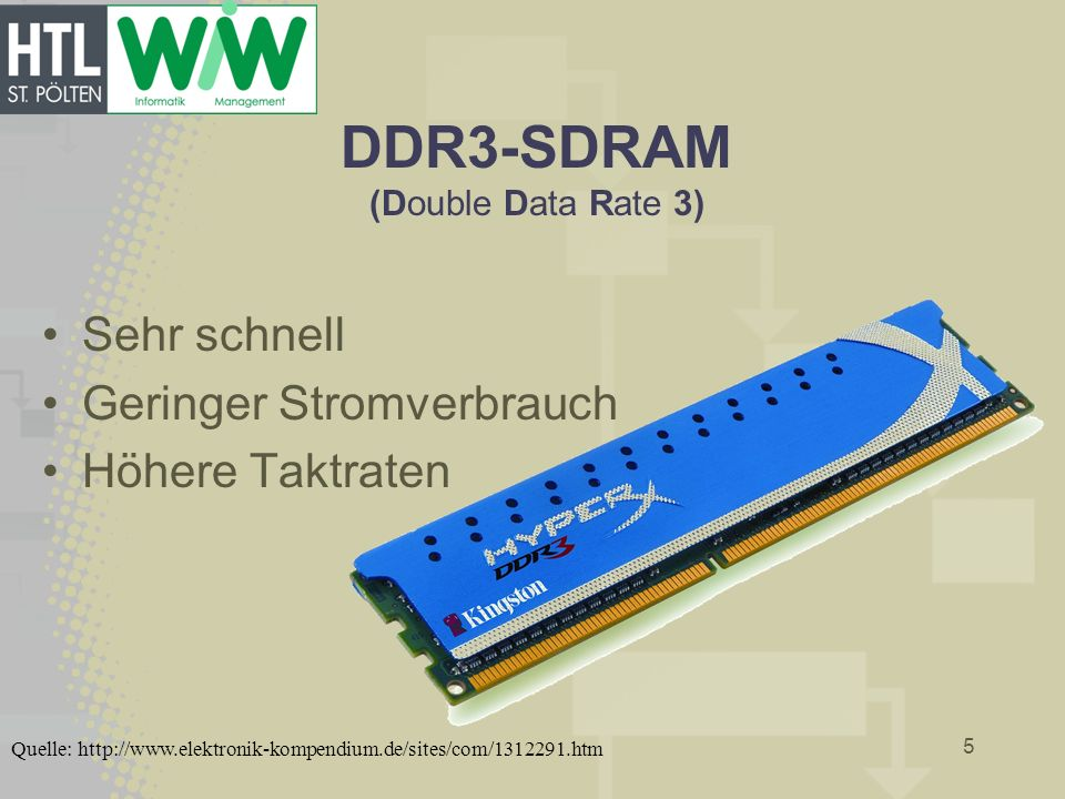 DDR3-SDRAM (Double Data Rate 3)