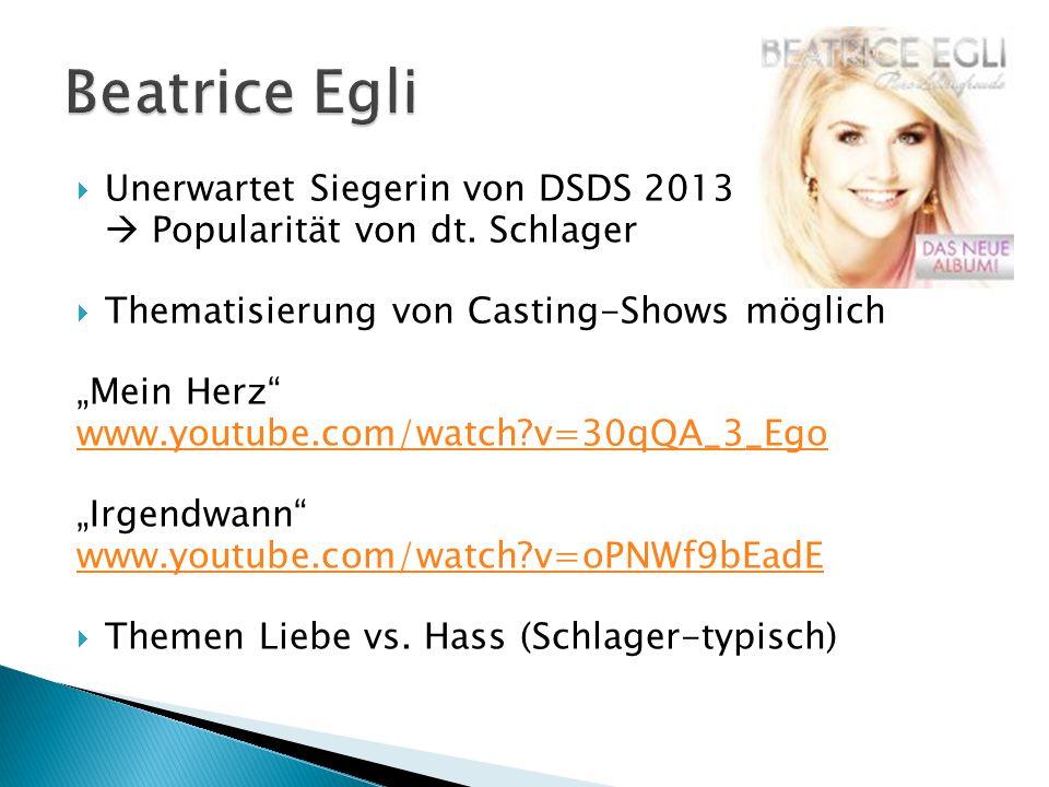 Beatrice Egli Unerwartet Siegerin von DSDS 2013