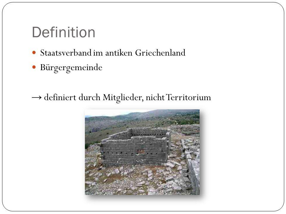 Definition Staatsverband im antiken Griechenland Bürgergemeinde