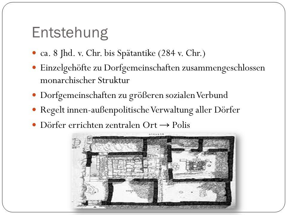 Entstehung ca. 8 Jhd. v. Chr. bis Spätantike (284 v. Chr.)