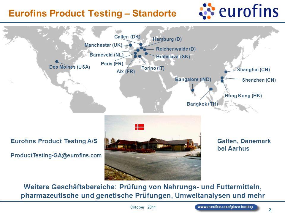 Eurofins Product Testing – Standorte
