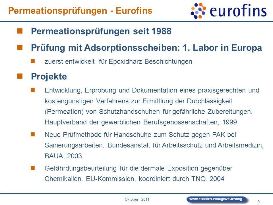 Permeationsprüfungen - Eurofins