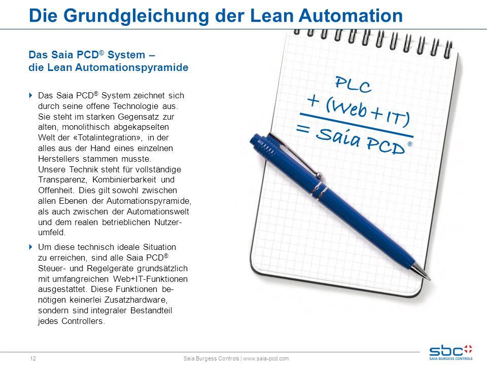 Die Grundgleichung der Lean Automation