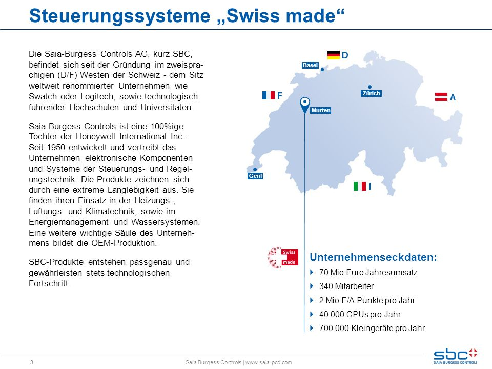 "Steuerungssysteme ""Swiss made"