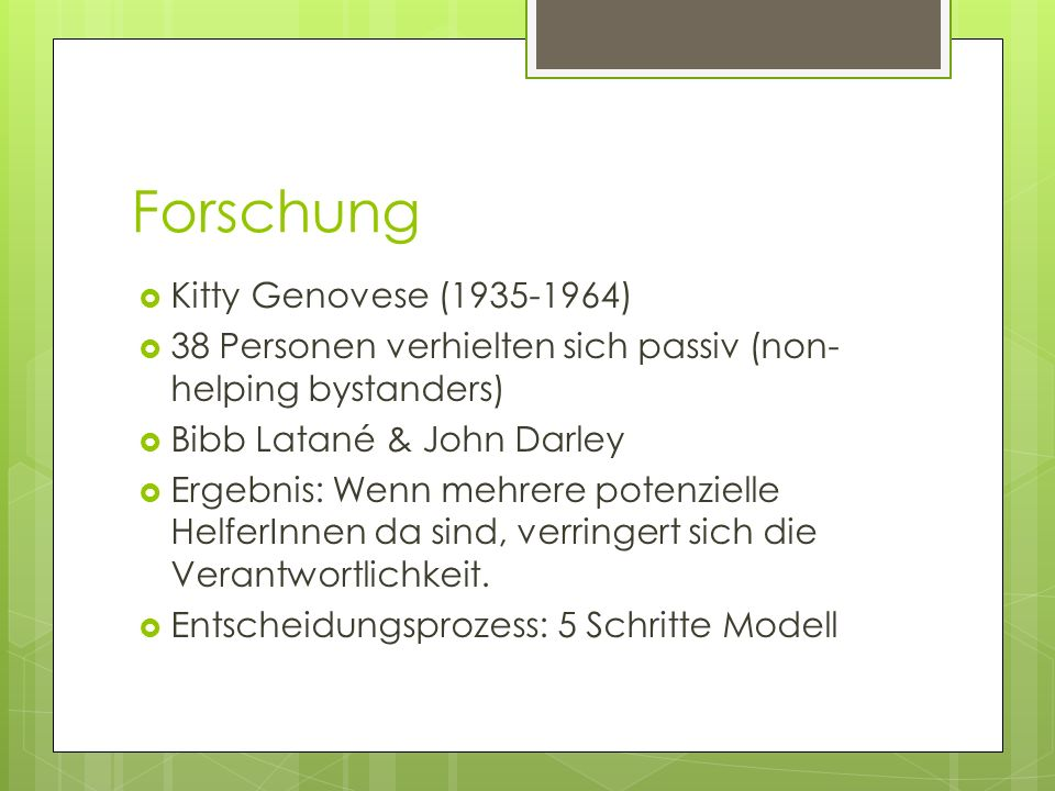 Forschung Kitty Genovese ( )
