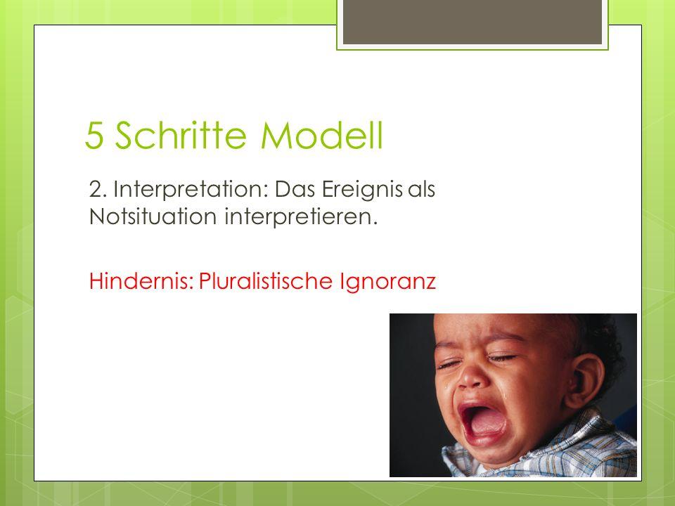 5 Schritte Modell 2. Interpretation: Das Ereignis als Notsituation interpretieren.