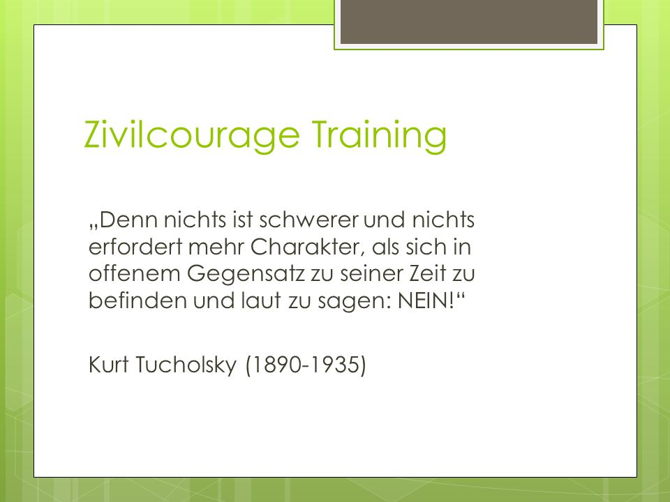 Zivilcourage Training
