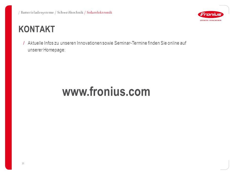 www.fronius.com KONTAKT
