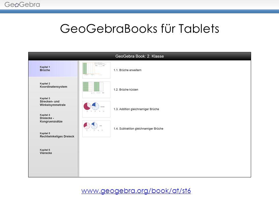 GeoGebraBooks für Tablets