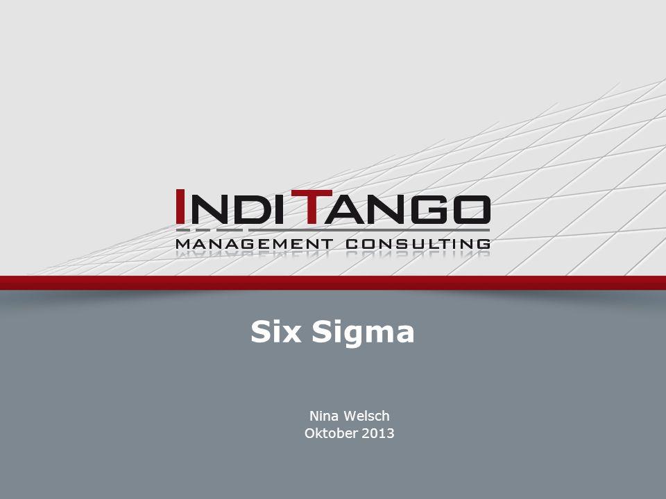 Six Sigma Nina Welsch Oktober 2013 ©2007 IndiTango AG | |