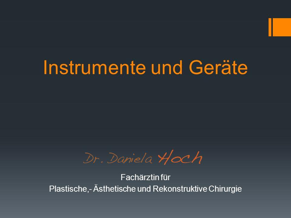 Instrumente und Geräte