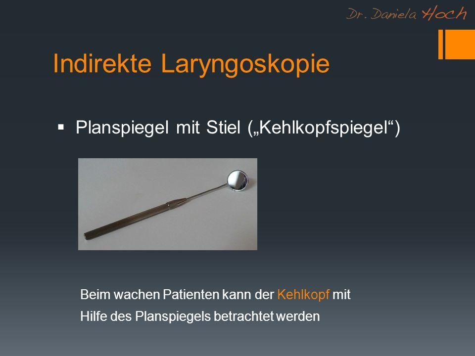 Indirekte Laryngoskopie
