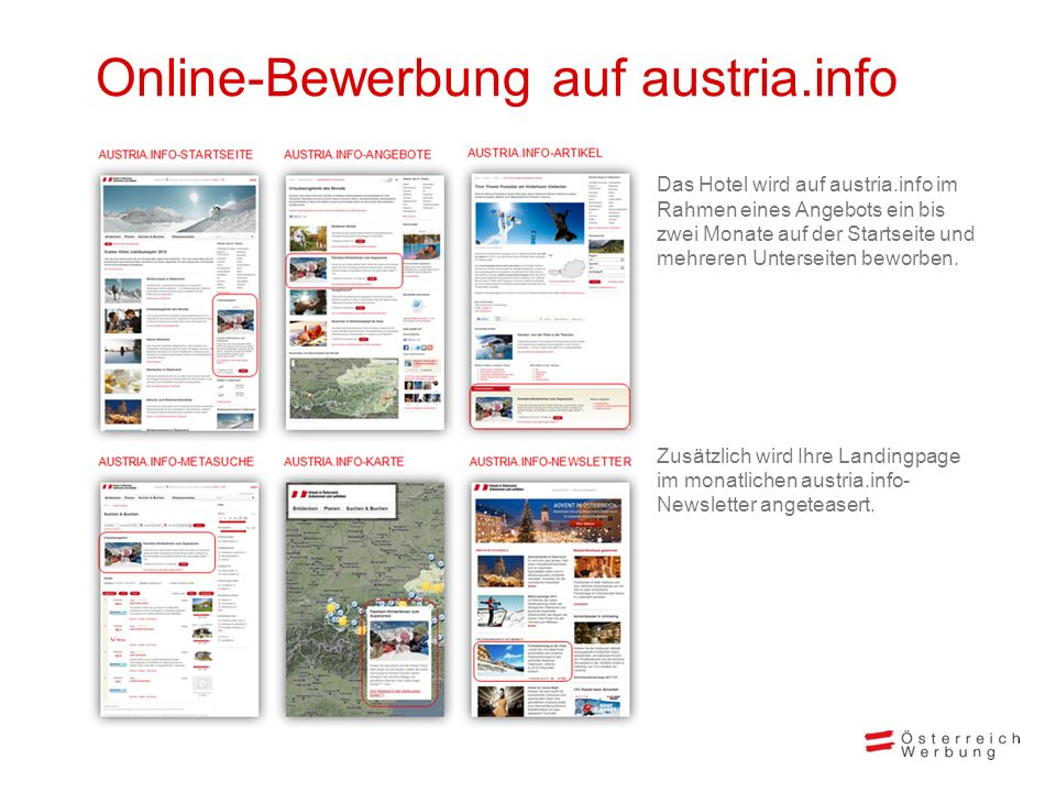 Online-Bewerbung auf austria.info