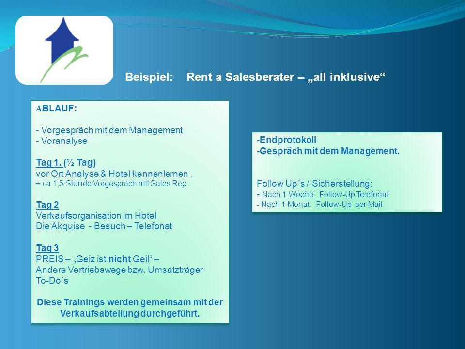 "Beispiel: Rent a Salesberater – ""all inklusive"