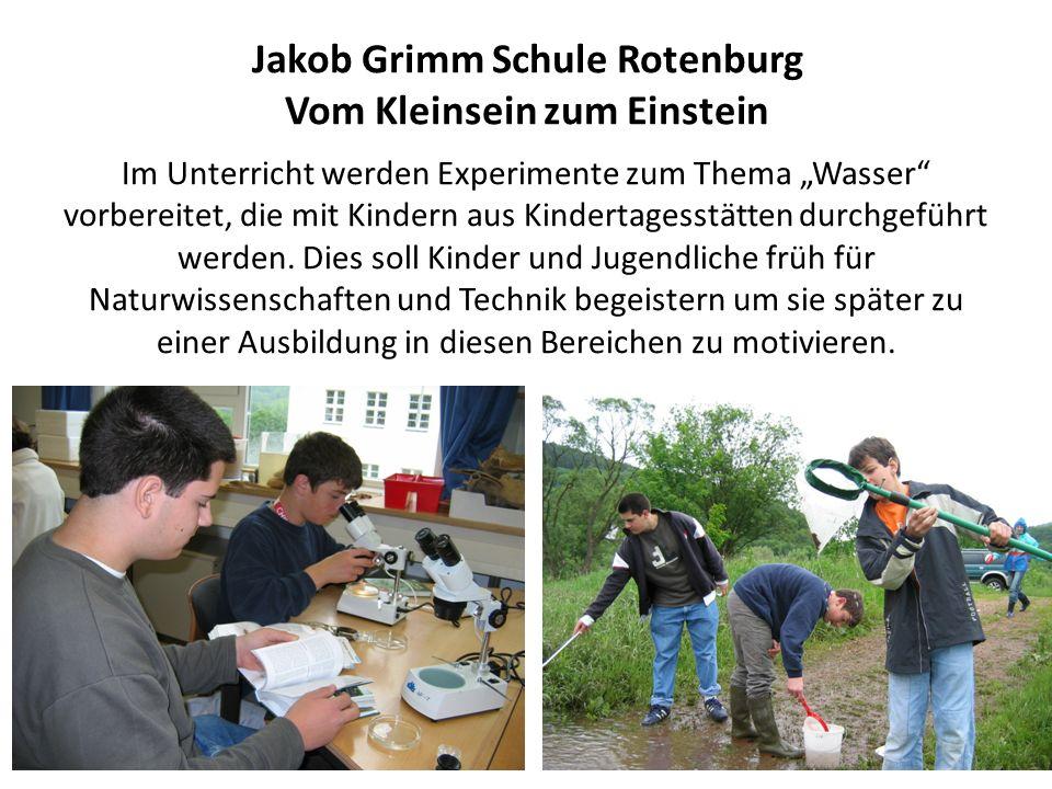Jakob Grimm Schule Rotenburg Vom Kleinsein zum Einstein